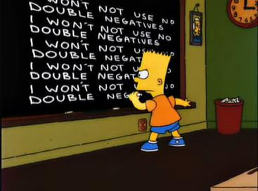 Double negatives – podwójne przeczenia